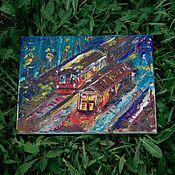 Картины и панно ручной работы. Ярмарка Мастеров - ручная работа Поезд. Handmade.