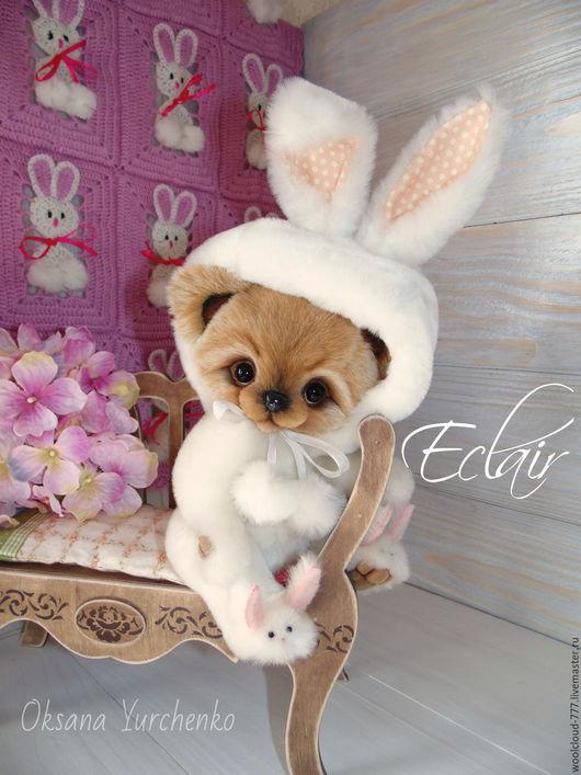 Мишки Тедди ручной работы. Ярмарка Мастеров - ручная работа. Купить Музыкальный мишко-кролик по имени Эклер. Handmade.