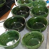Посуда handmade. Livemaster - original item A glass and bowls  of jade. Handmade.