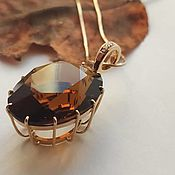 Украшения handmade. Livemaster - original item Pendant with citrine-Madera of