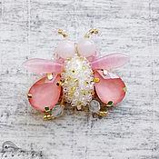 """Украшения handmade. Livemaster - original item Brooch -a fly """"Aurora"""". Handmade."""