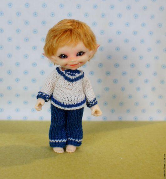 Одежда для кукол ручной работы. Ярмарка Мастеров - ручная работа. Купить Паричок для RealPuki мальчика. Handmade. Желтый, волосы для кукол