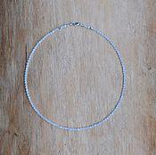 Колье ручной работы. Ярмарка Мастеров - ручная работа Колье из лунного камня с серебром. Handmade.