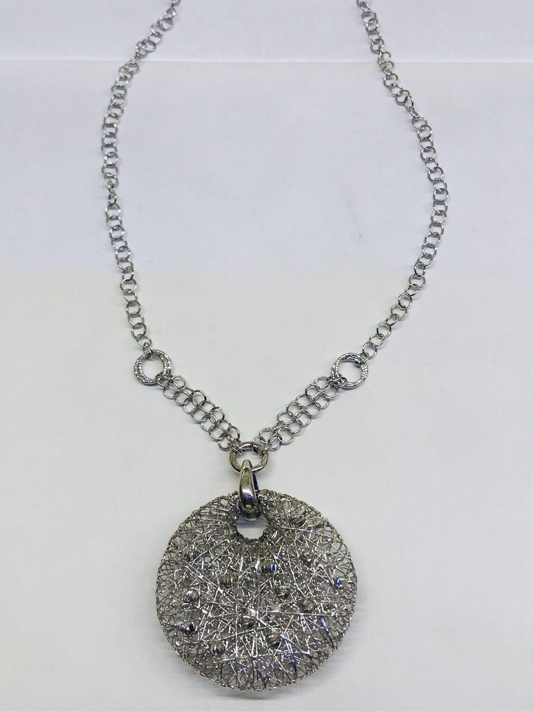 Колье с кулоном из серебра, Колье, Севастополь,  Фото №1