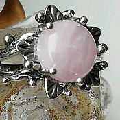 Украшения handmade. Livemaster - original item Rings: ring with natural rose quartz