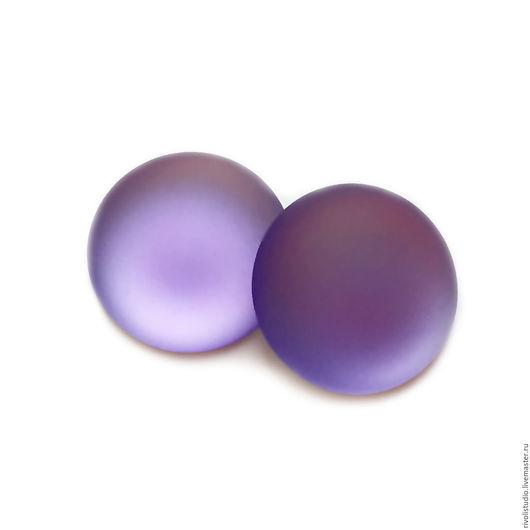 Для украшений ручной работы. Ярмарка Мастеров - ручная работа. Купить Lunasoft кабошон  18 мм  Lavender круглый. Handmade.
