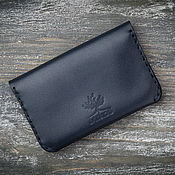 Сумки и аксессуары handmade. Livemaster - original item Blue leather cardholder. Handmade.