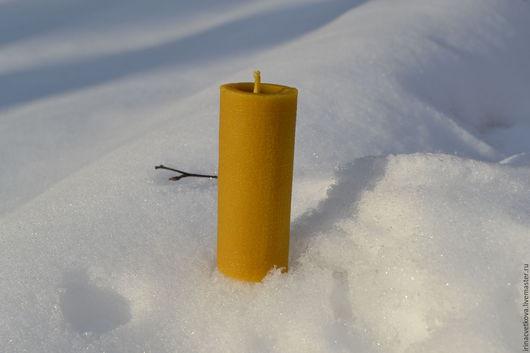 Восковая свеча `Мешковина`