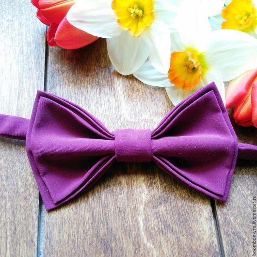 Галстуки, бабочки ручной работы. Ярмарка Мастеров - ручная работа. Купить Галстук-бабочка. Handmade. Фиолетовый, галстук бабочка женский