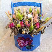"""Цветы и флористика ручной работы. Ярмарка Мастеров - ручная работа Букет """"Розы в коробе"""". Handmade."""