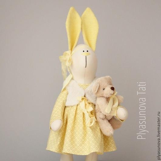 Куклы Тильды ручной работы. Ярмарка Мастеров - ручная работа. Купить Зайка Лимончик - мягкая игрушка в стиле тильда. Handmade.