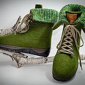 """Обувь ручной работы. Ярмарка Мастеров - ручная работа Ботинки из войлока """" Alpen Boots"""". Handmade."""