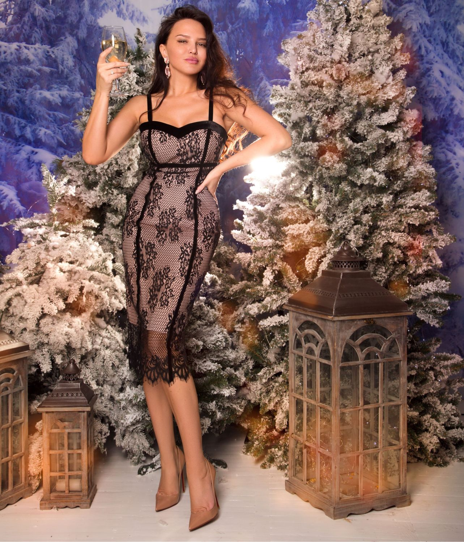 Платье футляр с кружевом 00603, Платья, Харьков,  Фото №1
