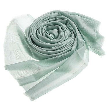 Accessories handmade. Livemaster - original item Cashmere stole mint shade, with embossed pattern. Handmade.