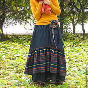 Одежда handmade. Livemaster - original item The floor-length skirt denim