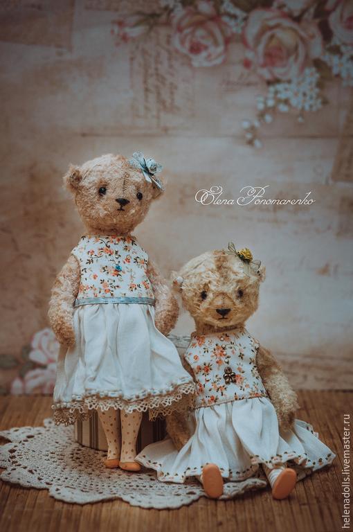 Мишки Тедди ручной работы. Ярмарка Мастеров - ручная работа. Купить Mademoiselle Мишель и Мари... Handmade. Мишка тедди, роза