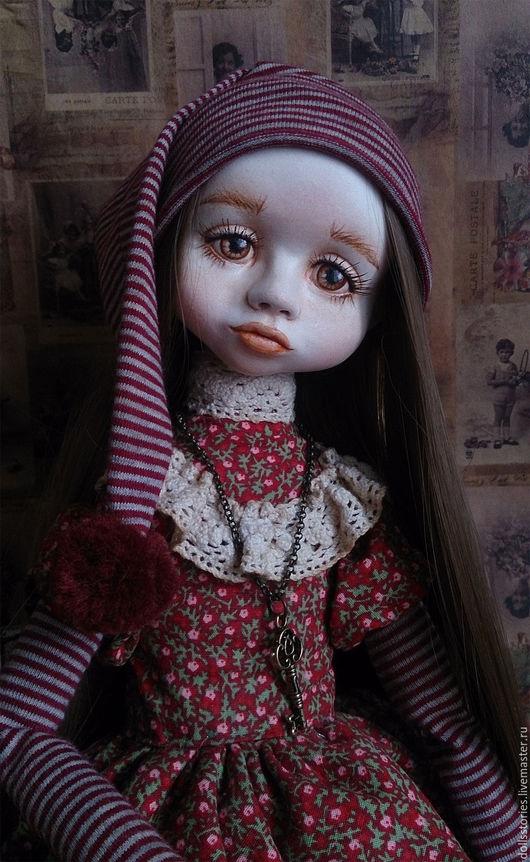 Коллекционные куклы ручной работы. Ярмарка Мастеров - ручная работа. Купить Авторская кукла Николь. Handmade. Бордовый, кукла интерьерная