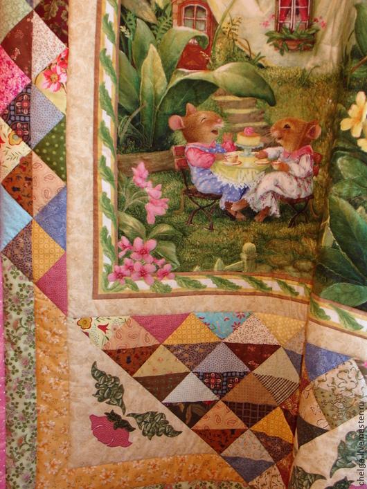 """Пледы и одеяла ручной работы. Ярмарка Мастеров - ручная работа. Купить Детское лоскутное одеяло """"Летнее чаепитие 2"""". Handmade."""