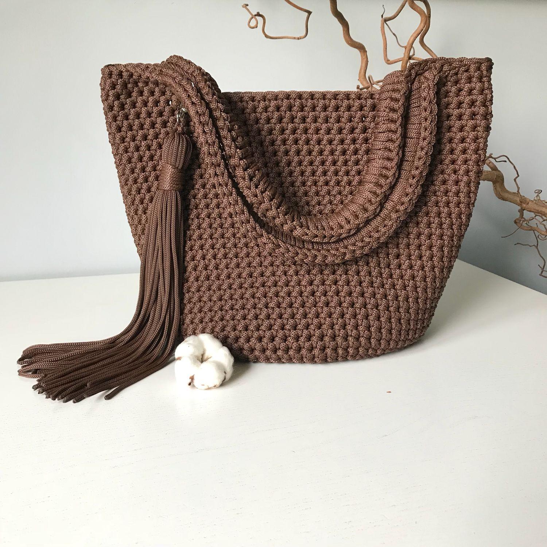 bd336a23bb92 Женские сумки ручной работы. Ярмарка Мастеров - ручная работа. Купить  Вязаная сумка.