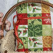 Материалы для творчества ручной работы. Ярмарка Мастеров - ручная работа Новогодняя  ткань лскутная. Handmade.