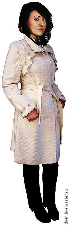 Верхняя одежда ручной работы. Ярмарка Мастеров - ручная работа. Купить Пальто женское под кашемир Bianca bianco/sabbia/nero. Handmade.