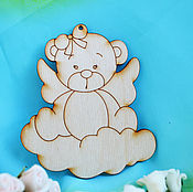 Материалы для творчества handmade. Livemaster - original item Bear on the cloud a blank for creativity. Handmade.