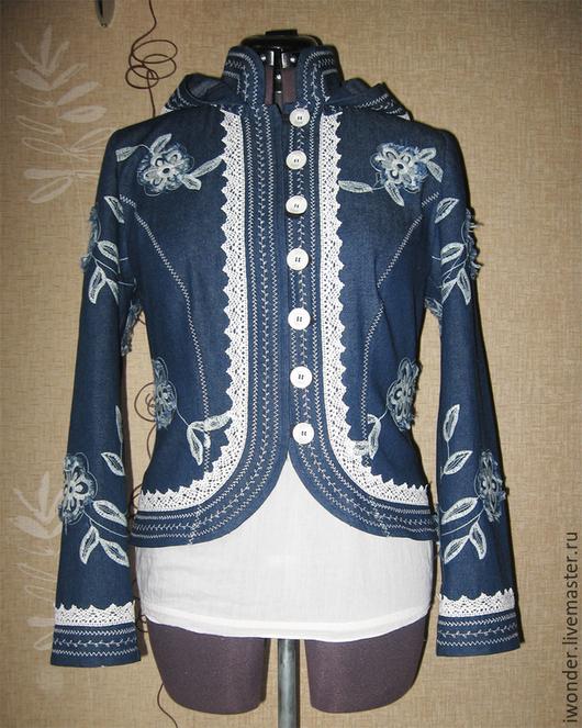"""Верхняя одежда ручной работы. Ярмарка Мастеров - ручная работа. Купить Летняя бохо-куртка """"Мечта цвета """"джинс"""". Handmade."""