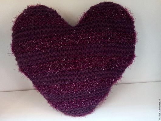 """Текстиль, ковры ручной работы. Ярмарка Мастеров - ручная работа. Купить Подушка """"Сердце фиолетовое"""". Handmade. Тёмно-фиолетовый, синтепон"""