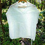 Одежда handmade. Livemaster - original item Knitted linen jacket. Handmade.