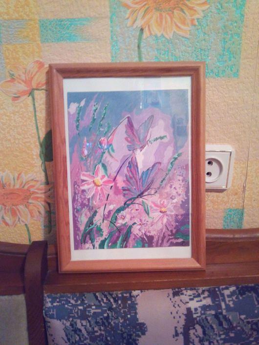 Картины цветов ручной работы. Ярмарка Мастеров - ручная работа. Купить Я прекрасная бабочка. Handmade. Комбинированный, акрил, природа