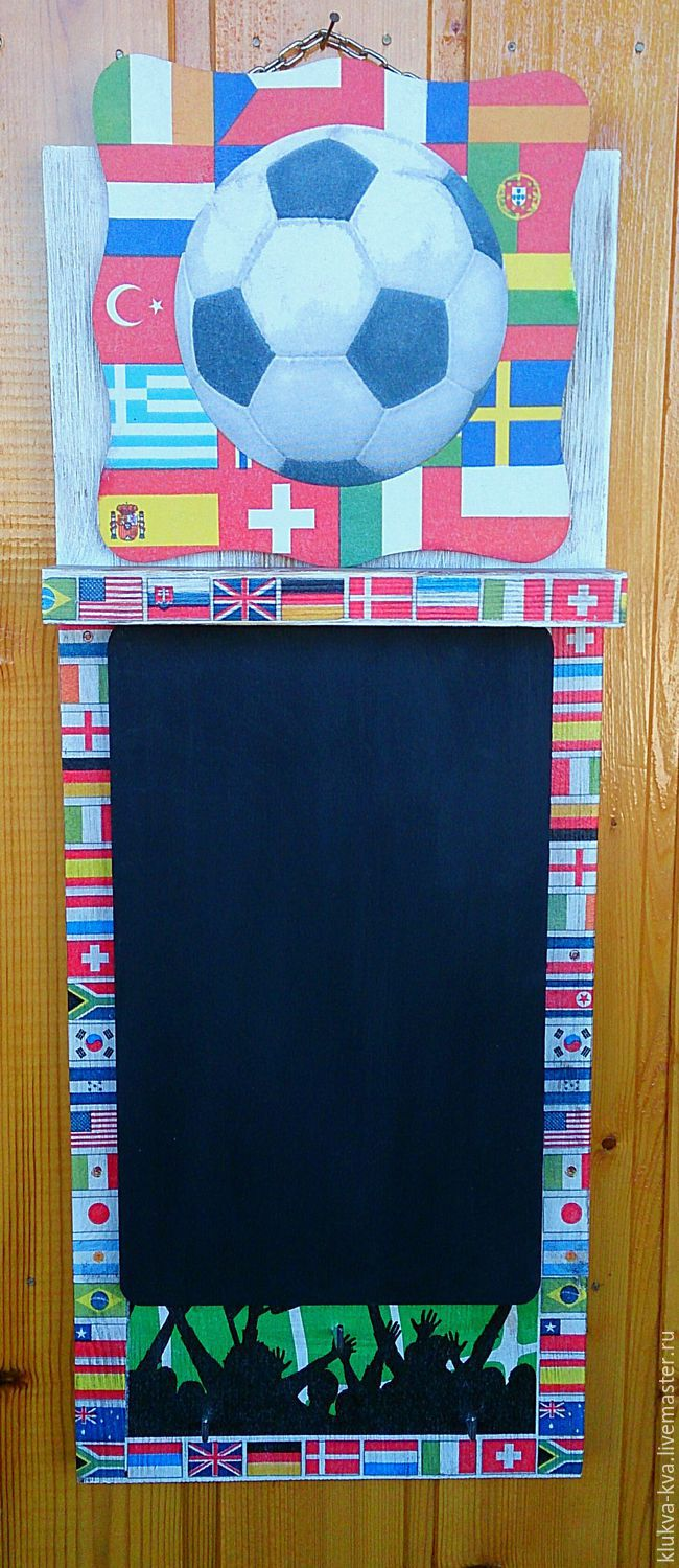 Chalk Board key box 'All for the match', Housekeeper, Moscow,  Фото №1