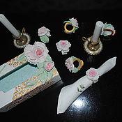 Салфетницы ручной работы. Ярмарка Мастеров - ручная работа Салфетницы: Розовое очарование. Handmade.