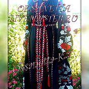 Одежда handmade. Livemaster - original item Dress embroidered . Boho Style Bohemian. 2018. Handmade.