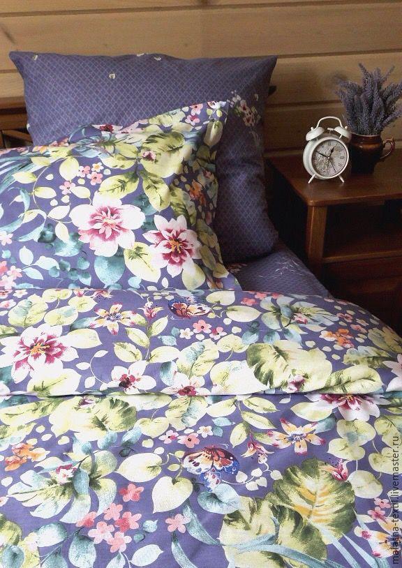 Текстиль, ковры ручной работы. Ярмарка Мастеров - ручная работа. Купить Комплект постельного белья Вальс цветов. Handmade. Цветы