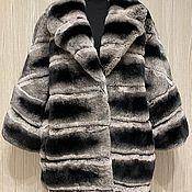 Одежда handmade. Livemaster - original item Chinchilla rabbit jacket 48-54. Handmade.