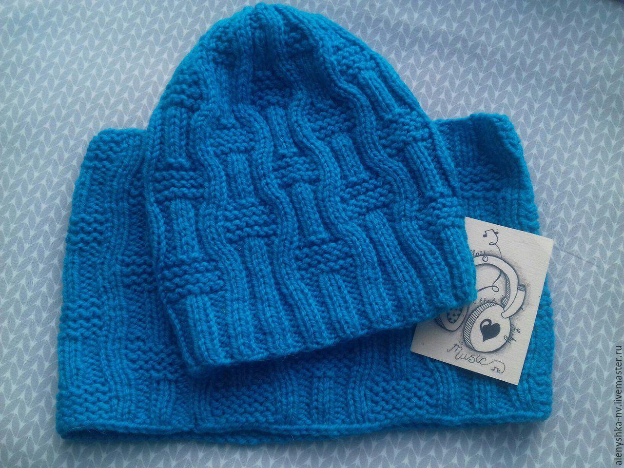 Вязание спицами шапка для мальчика 4 лет 49