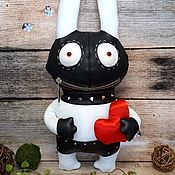 Сувениры и подарки handmade. Livemaster - original item Let`s make love? Plush Bunny bdsm by Vasya Lozhkin. Handmade.