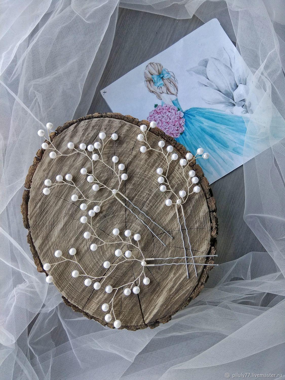 Свадебные украшения ручной работы. Ярмарка Мастеров - ручная работа. Купить Украшение:Шпильки на свадьбу. Handmade. Свадьба, свадебные прически
