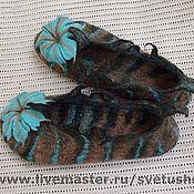 Slippers handmade. Livemaster - original item Felted felted Slippers