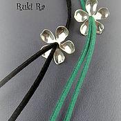 """Украшения ручной работы. Ярмарка Мастеров - ручная работа Колье-галстук """"Магнолия"""" малый цветок. Handmade."""
