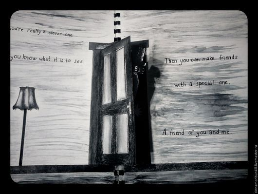 Подарки на Хэллоуин ручной работы. Ярмарка Мастеров - ручная работа. Купить Книга Mr. Babadook (Бабадук). Handmade. Черный, babadook