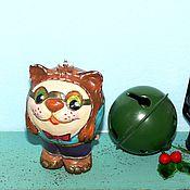 Подарки к праздникам ручной работы. Ярмарка Мастеров - ручная работа новый год игрушки на елку Кот. Handmade.