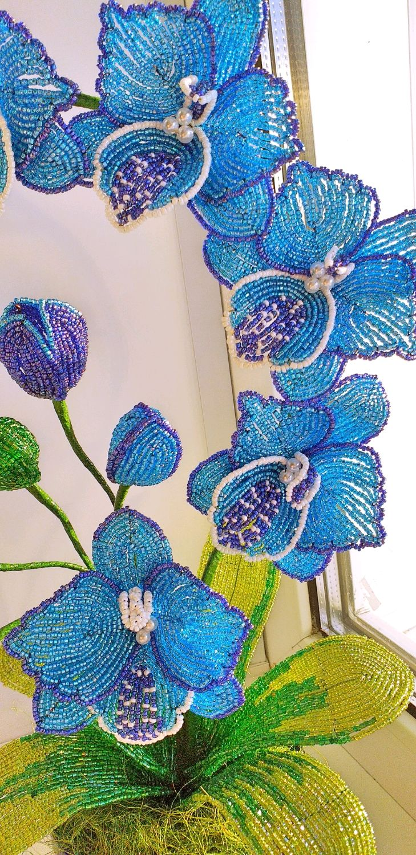 плетение орхидеи синей из бисера пошаговые фото багратион традиционная свадебная