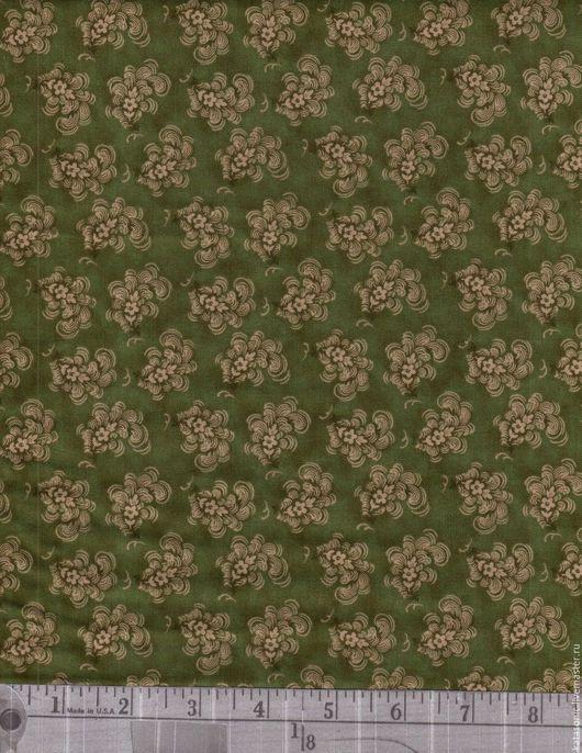 Шитье ручной работы. Ярмарка Мастеров - ручная работа. Купить 1238 Американская ткань. Handmade. Оливковый, ткань с рисунком