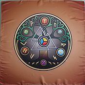 Фен-шуй и эзотерика handmade. Livemaster - original item Tablecloth runic Tree of Life. Handmade.