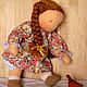 Вальдорфская игрушка ручной работы. Вальдорфская кукла-девочка 30-35 см. Alla  (Waldorf doll&toy). Ярмарка Мастеров.