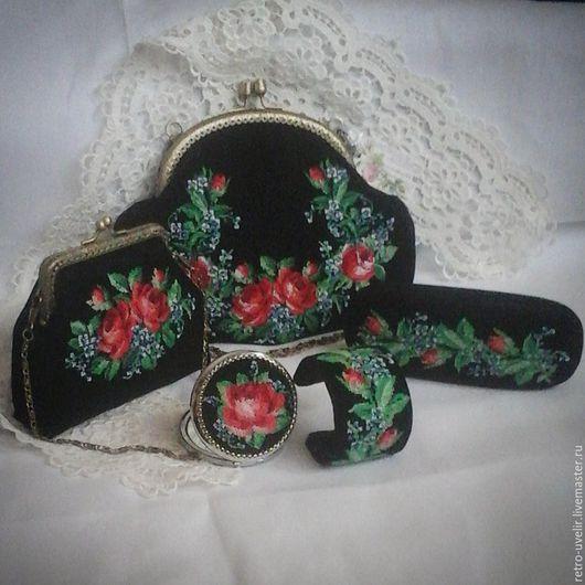 """Женские сумки ручной работы. Ярмарка Мастеров - ручная работа. Купить Дамский набор """"Цветение роз"""". Handmade. Комбинированный"""