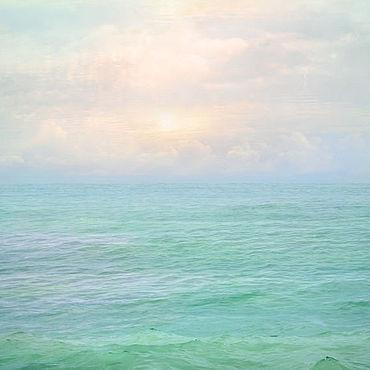 Картины и панно ручной работы. Ярмарка Мастеров - ручная работа Море абстрактная пастельная фото картина для интерьера спальни Вода. Handmade.