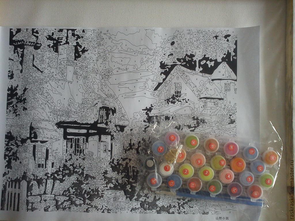 контрольный лист с набором красок