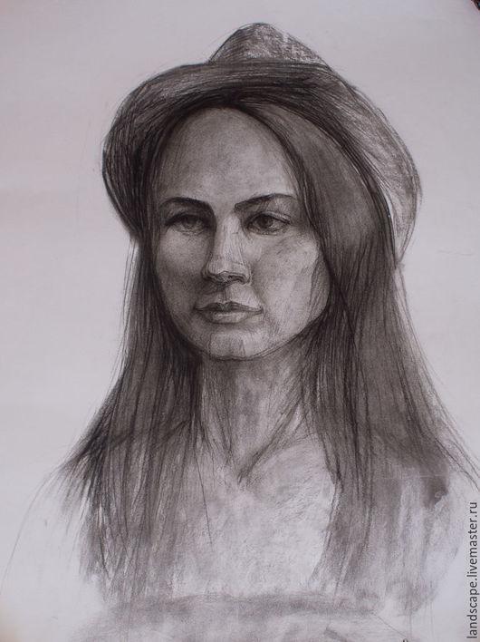 Люди, ручной работы. Ярмарка Мастеров - ручная работа. Купить Портрет углем. Handmade. Чёрно-белый, портрет карандашом